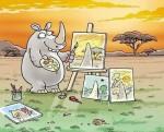 Как рисуват носорозите